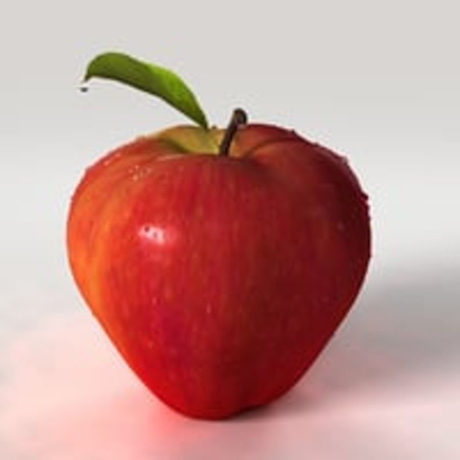 Apple Fruit royalty-free 3d model - Preview no. 6