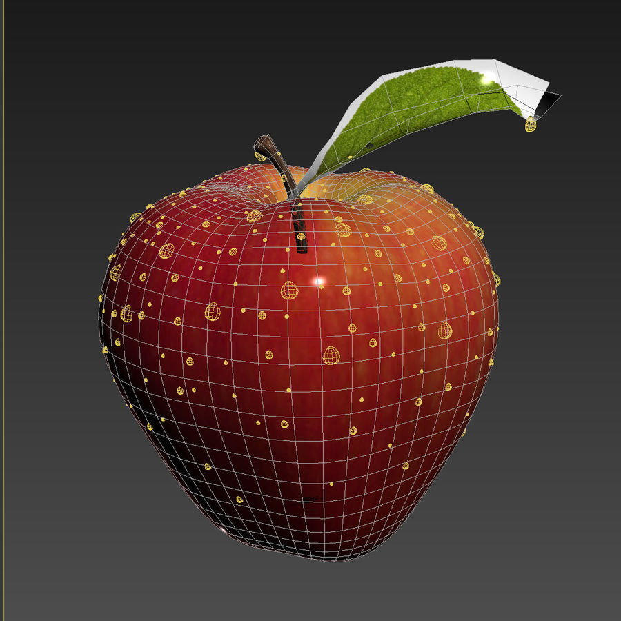Apple Fruit royalty-free 3d model - Preview no. 12