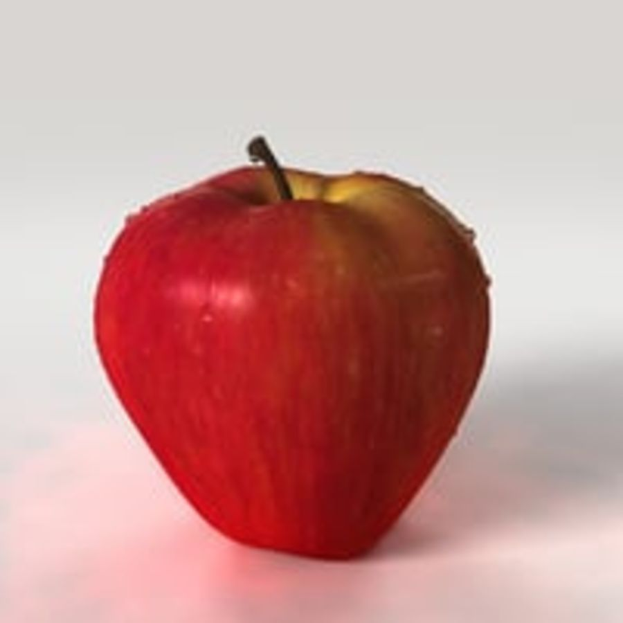 Apple Fruit royalty-free 3d model - Preview no. 3