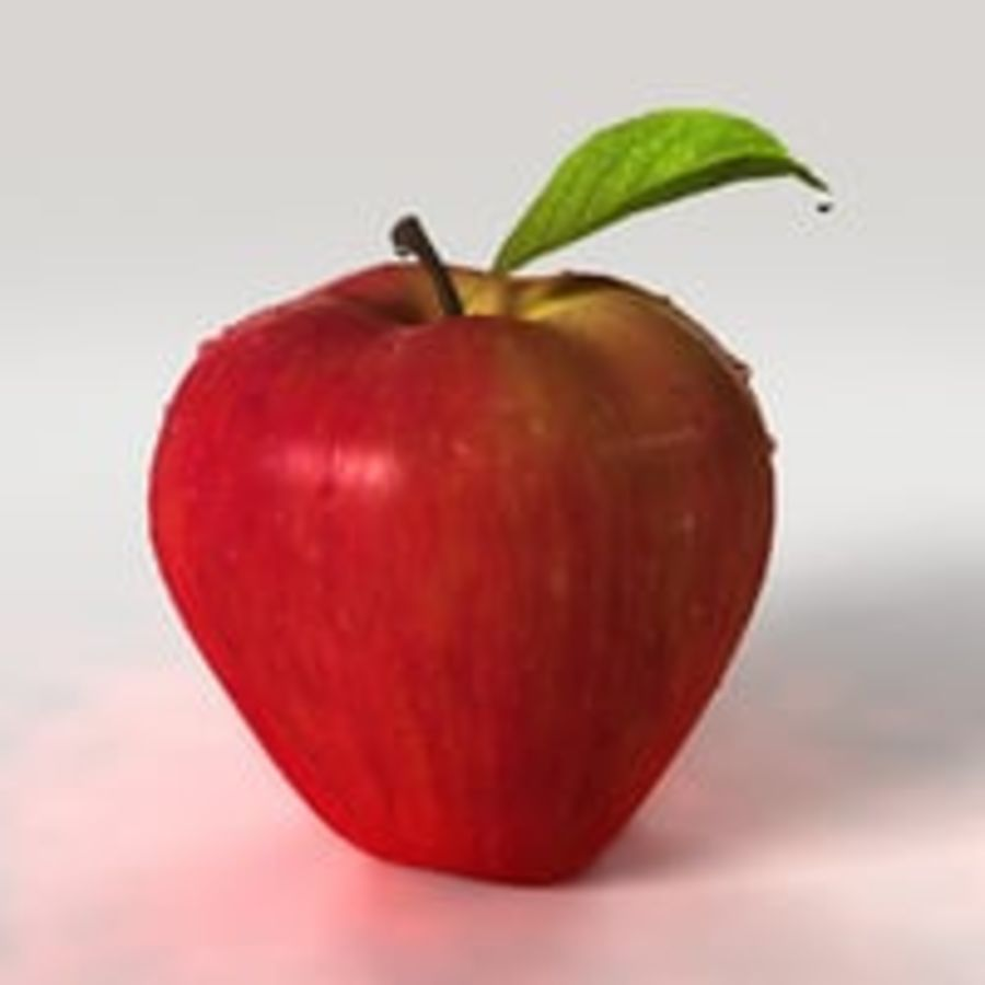Apple Fruit royalty-free 3d model - Preview no. 8