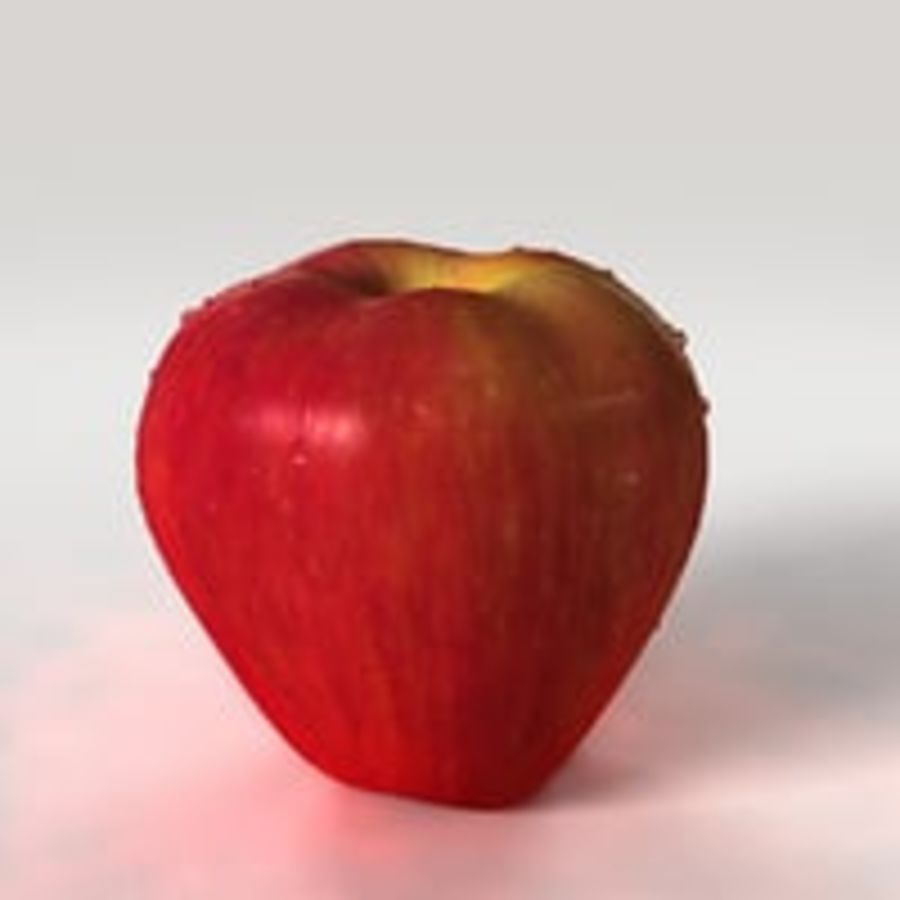 Apple Fruit royalty-free 3d model - Preview no. 4