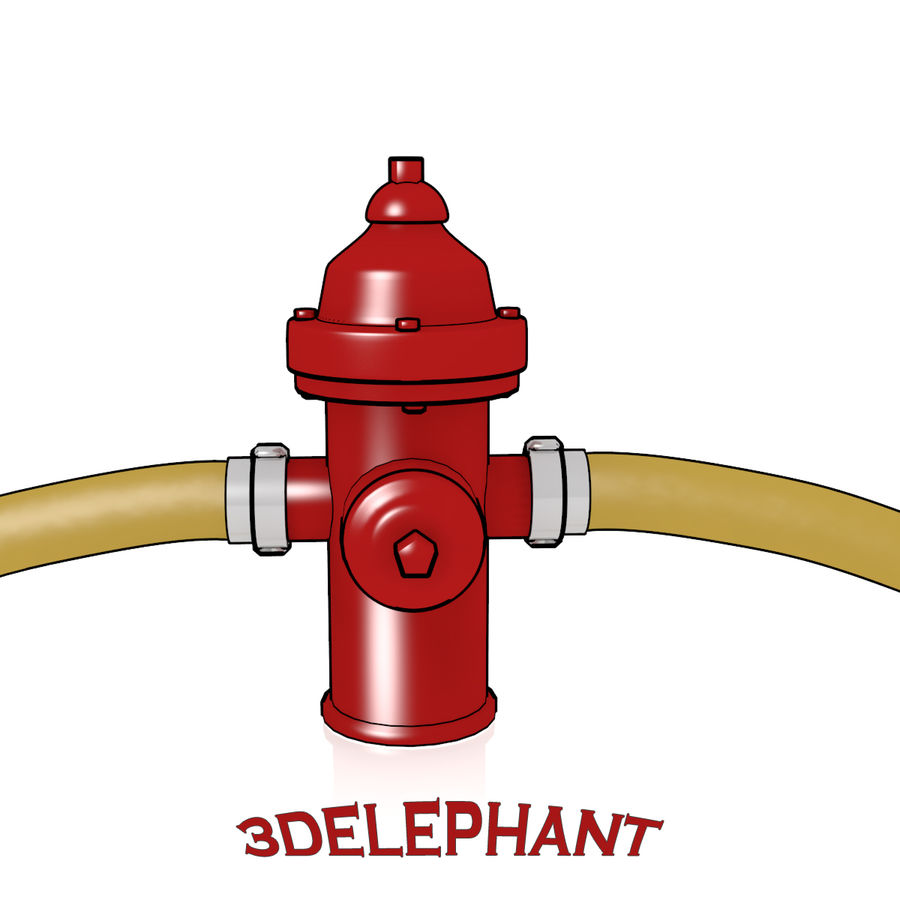 Toon Fire Hydrant royalty-free 3d model - Preview no. 5