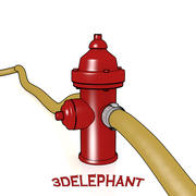 Toon Fire Hydrant 3d model