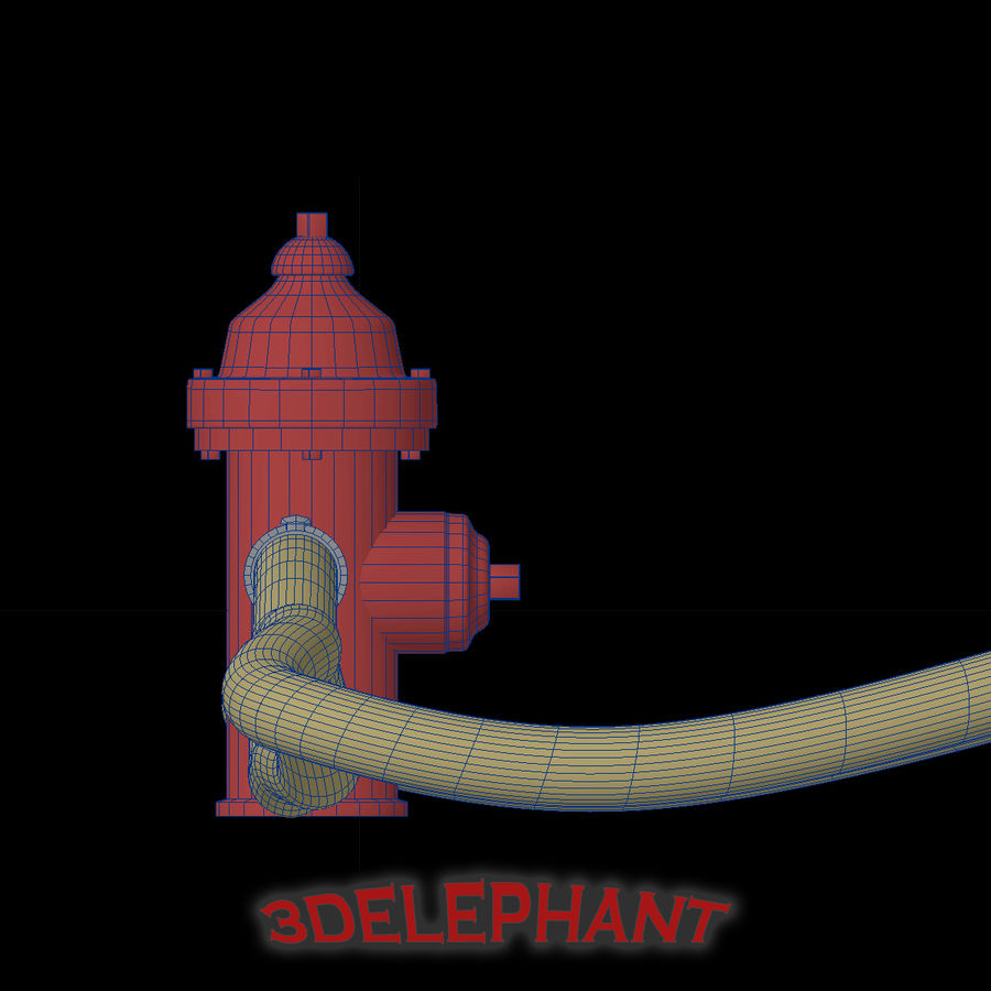 Toon Fire Hydrant royalty-free 3d model - Preview no. 6