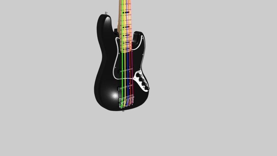 bas gitarr royalty-free 3d model - Preview no. 6