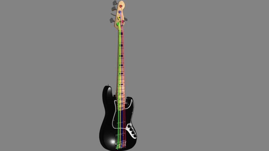 bas gitarr royalty-free 3d model - Preview no. 3