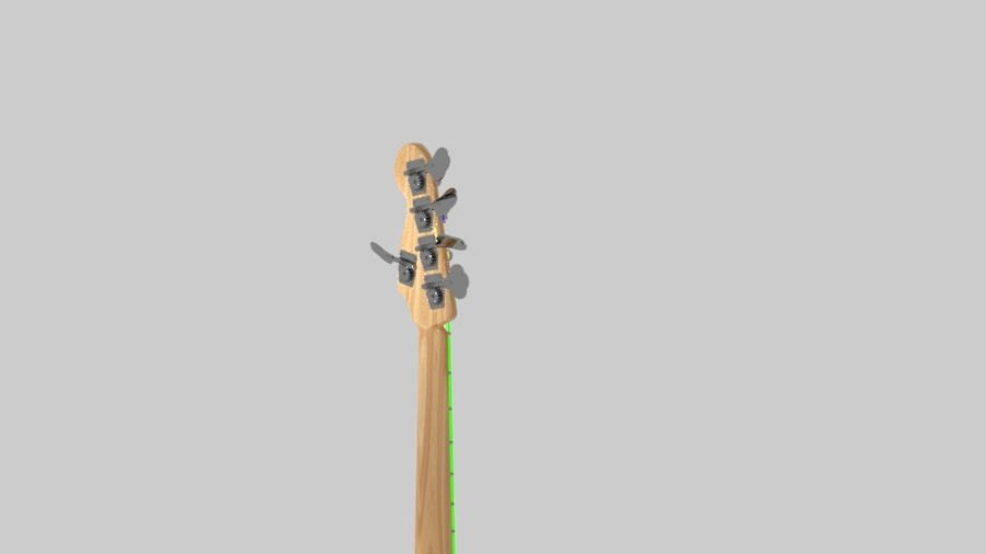 bas gitarr royalty-free 3d model - Preview no. 5
