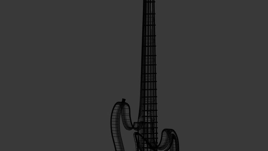 bas gitarr royalty-free 3d model - Preview no. 8