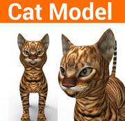 modello di gatto carino 3d model