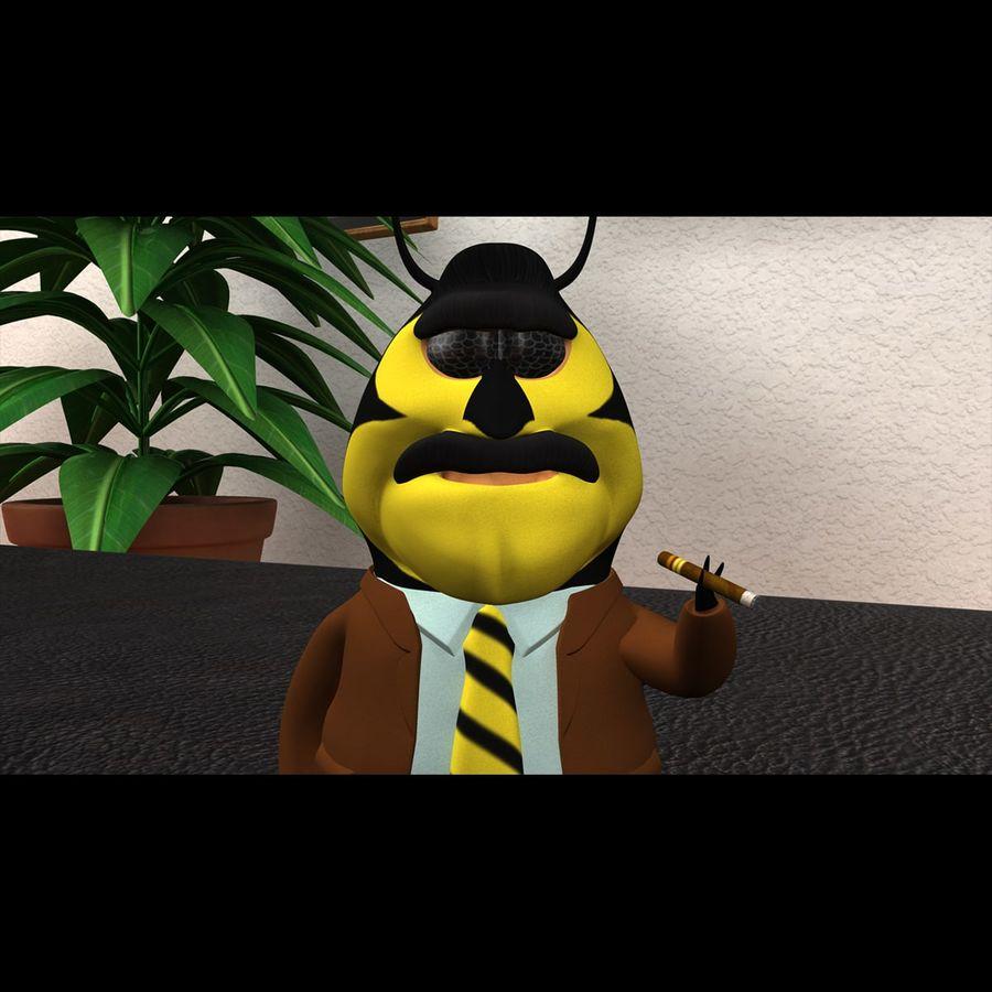 Carácter de abeja royalty-free modelo 3d - Preview no. 4
