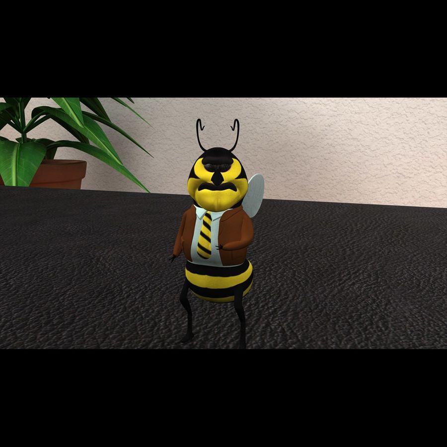 Carácter de abeja royalty-free modelo 3d - Preview no. 1