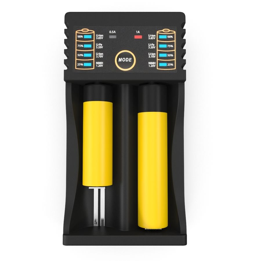 Battery Charger royalty-free 3d model - Preview no. 7