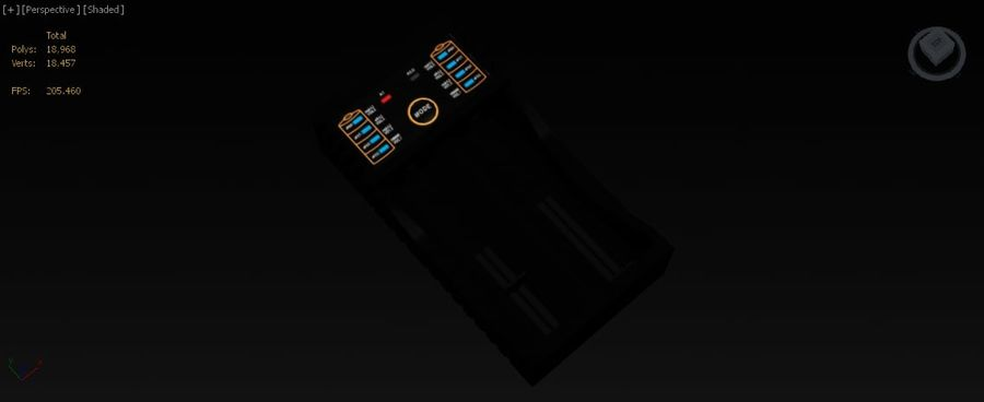 Battery Charger royalty-free 3d model - Preview no. 22