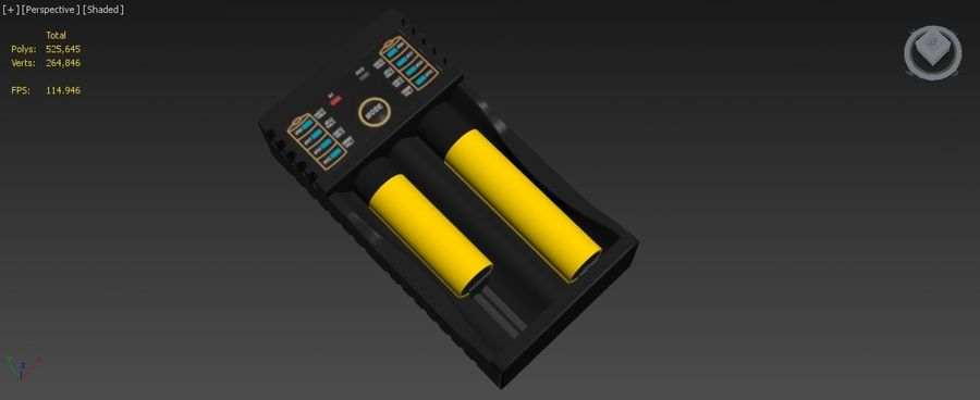 Battery Charger royalty-free 3d model - Preview no. 20