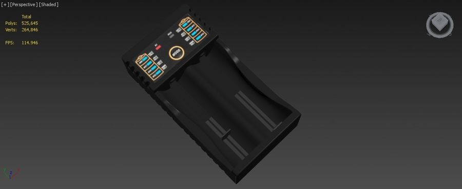 Battery Charger royalty-free 3d model - Preview no. 21