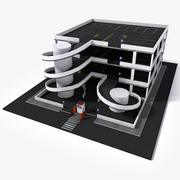 Lowpoly Parking 3d model