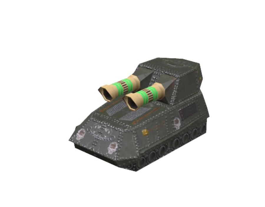 Tank armored Vehicle royalty-free 3d model - Preview no. 8