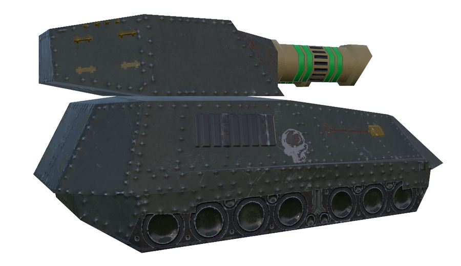 Tank armored Vehicle royalty-free 3d model - Preview no. 3