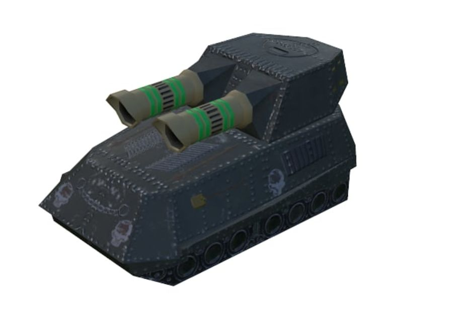 Tank armored Vehicle royalty-free 3d model - Preview no. 4