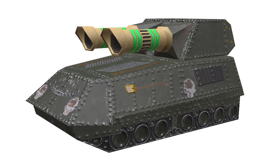 Tank armored Vehicle royalty-free 3d model - Preview no. 1