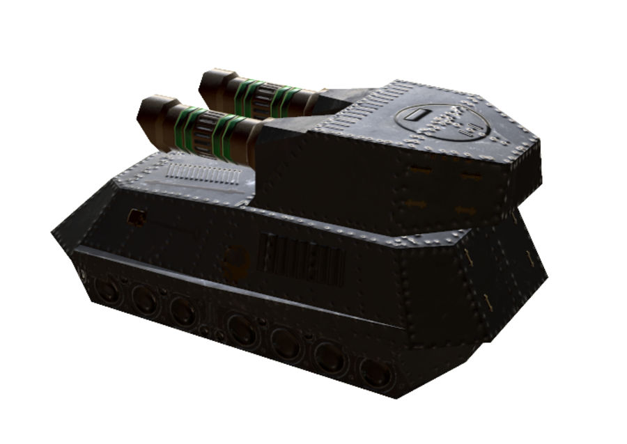 Tank armored Vehicle royalty-free 3d model - Preview no. 5