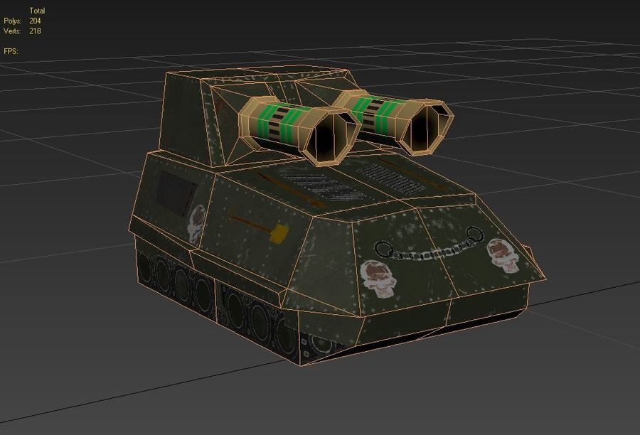 Tank armored Vehicle royalty-free 3d model - Preview no. 9