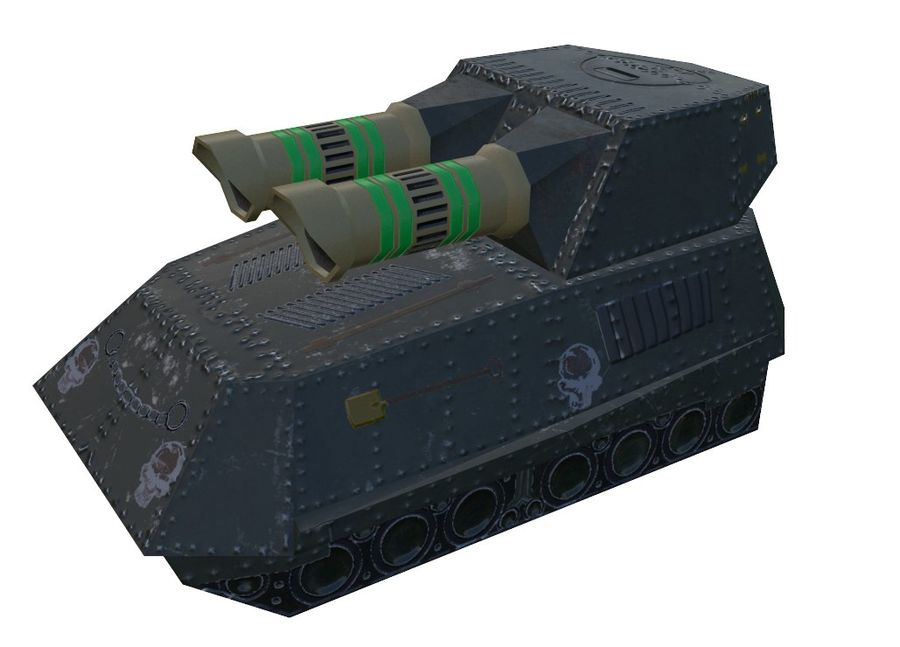 Tank armored Vehicle royalty-free 3d model - Preview no. 2