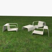 花园椅 3d model