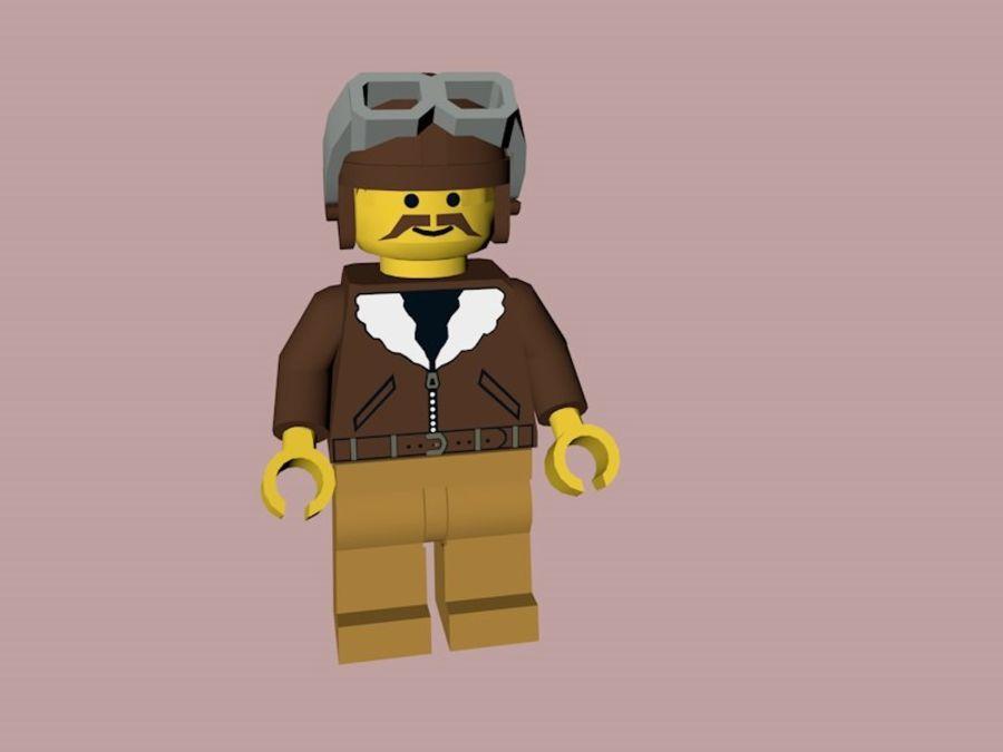 LEGO Aviator Karakteri royalty-free 3d model - Preview no. 2