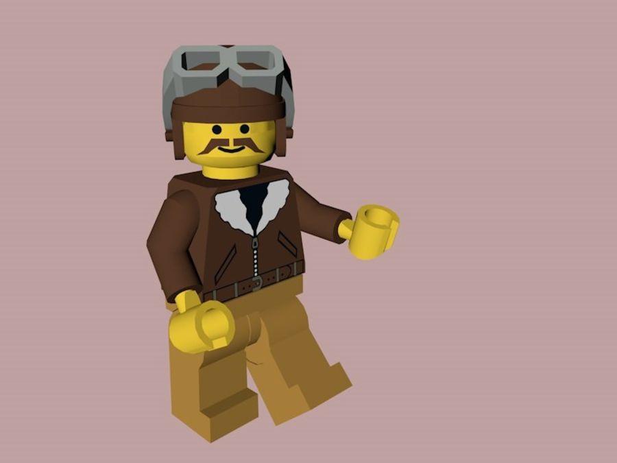 LEGO Aviator Karakteri royalty-free 3d model - Preview no. 3