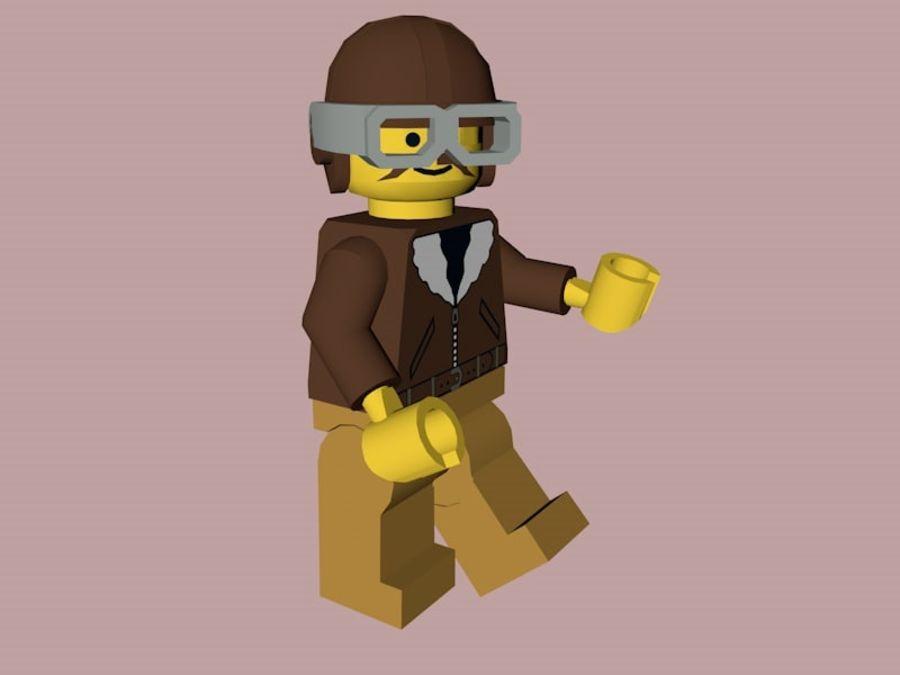 LEGO Aviator Karakteri royalty-free 3d model - Preview no. 4