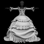 Prinzessin Kleid 3 3d model