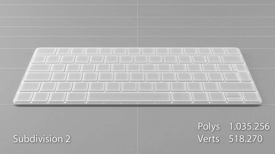 Apple Magic Keyboard royalty-free 3d model - Preview no. 13