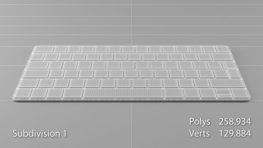 Apple Magic Keyboard royalty-free 3d model - Preview no. 12