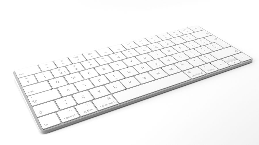 Apple Magic Keyboard royalty-free 3d model - Preview no. 2