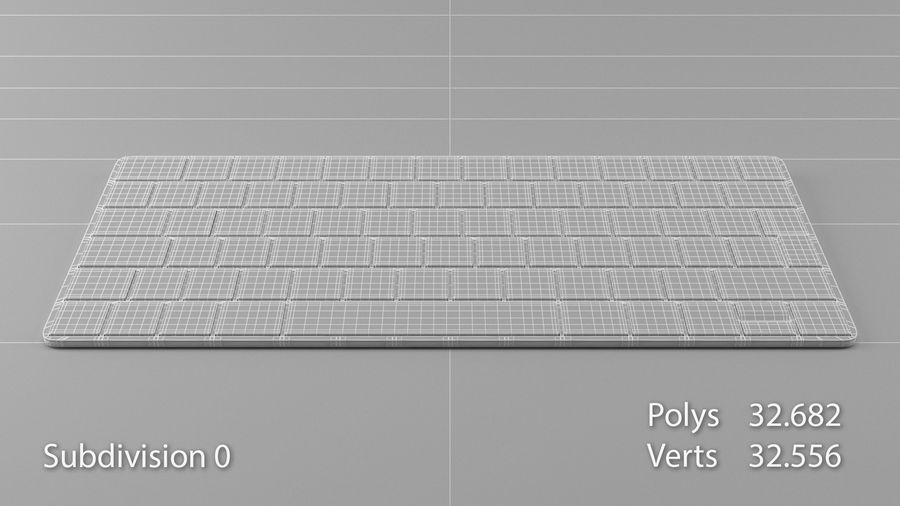 Apple Magic Keyboard royalty-free 3d model - Preview no. 11