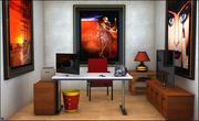 Fantasy Office Set 3d model