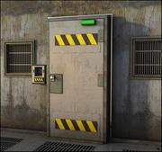 Бронированная дверь 3d model