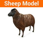 черная овца низкополигональная модель 3d model