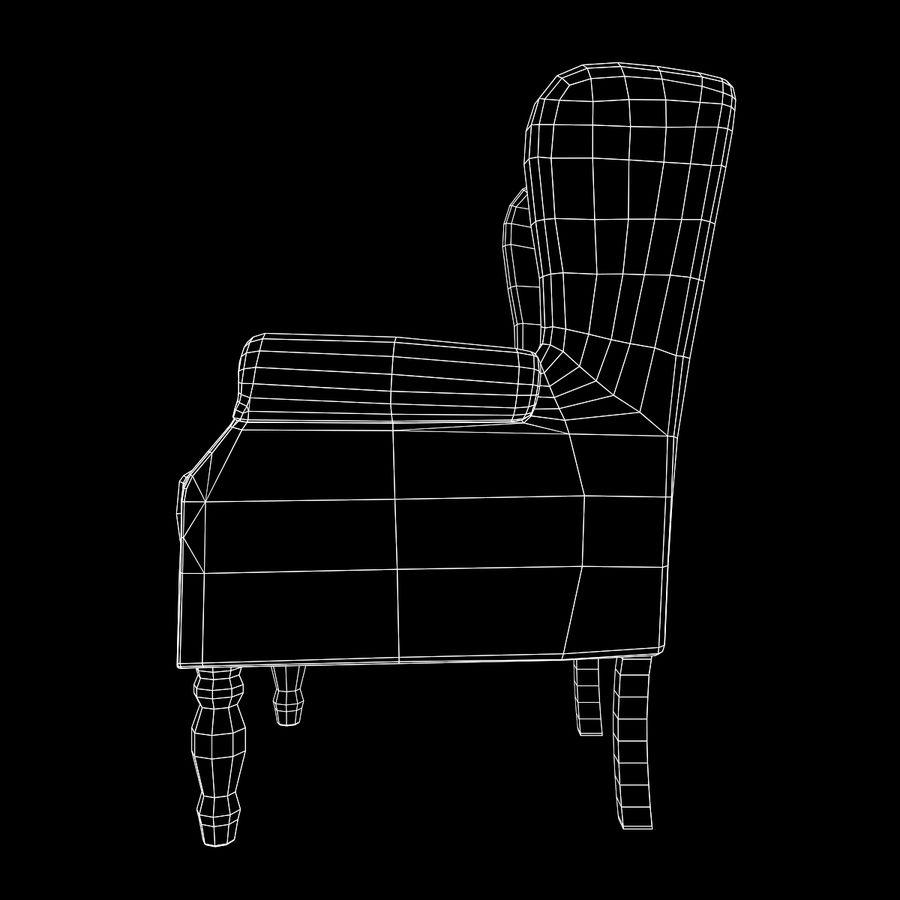 扶手椅棕色 royalty-free 3d model - Preview no. 18