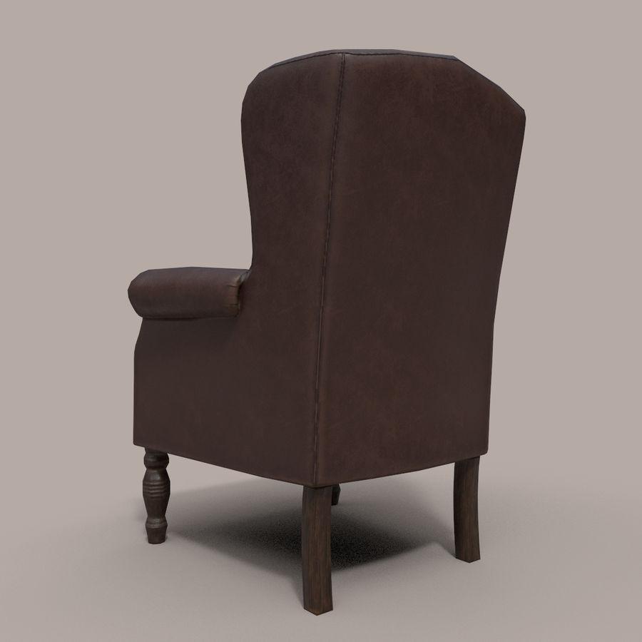 扶手椅棕色 royalty-free 3d model - Preview no. 7