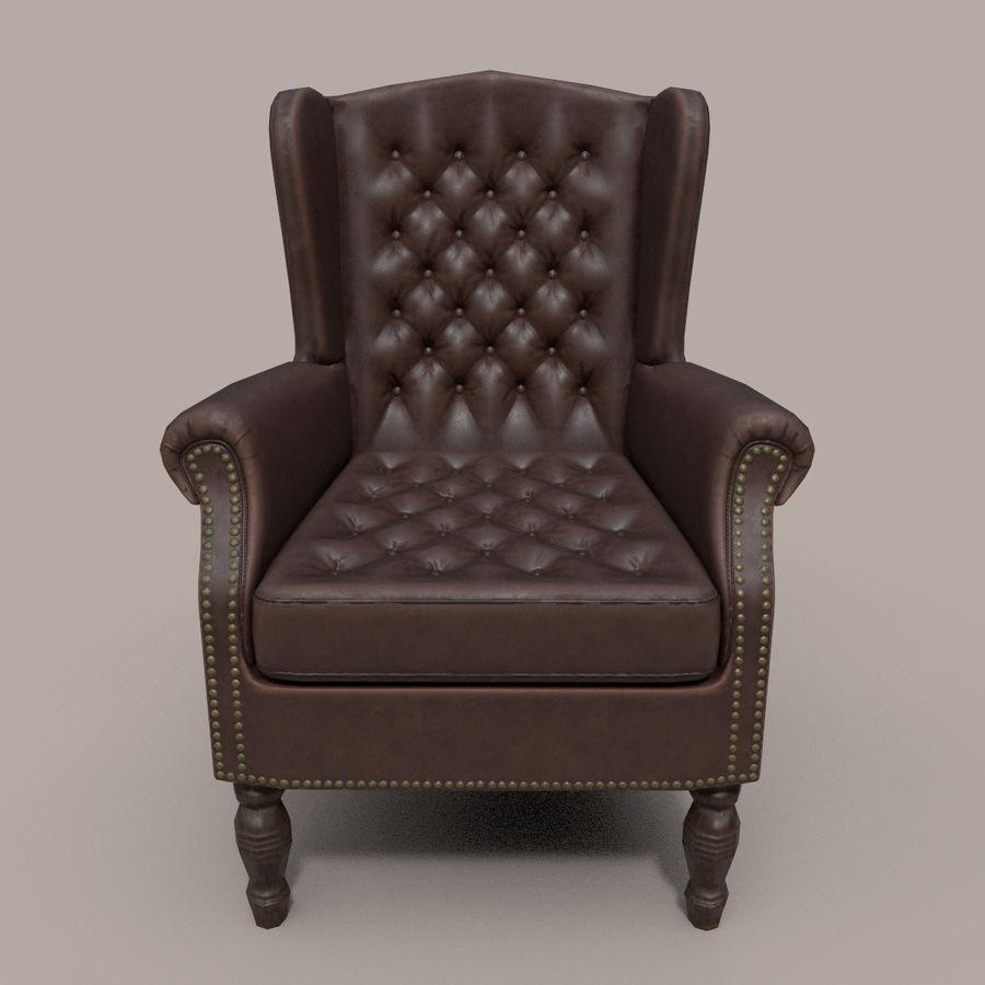 扶手椅棕色 royalty-free 3d model - Preview no. 3