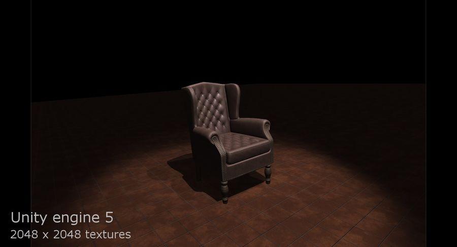 扶手椅棕色 royalty-free 3d model - Preview no. 11