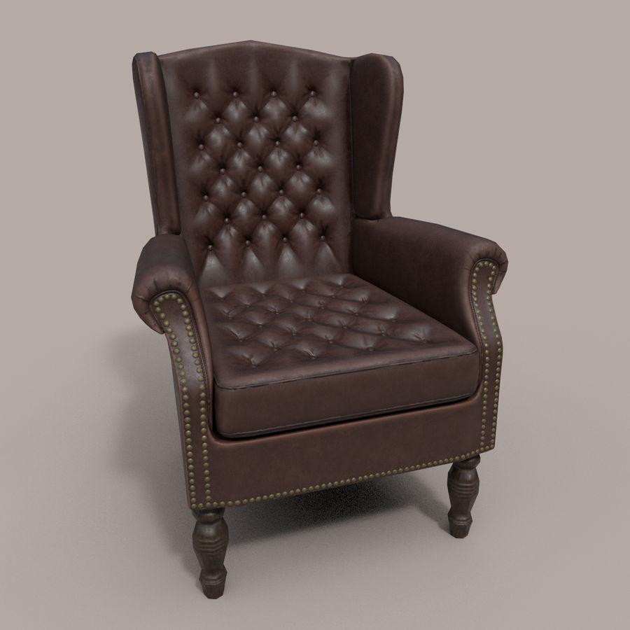 扶手椅棕色 royalty-free 3d model - Preview no. 2