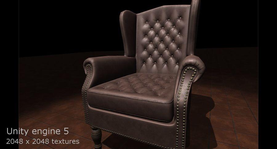 扶手椅棕色 royalty-free 3d model - Preview no. 13