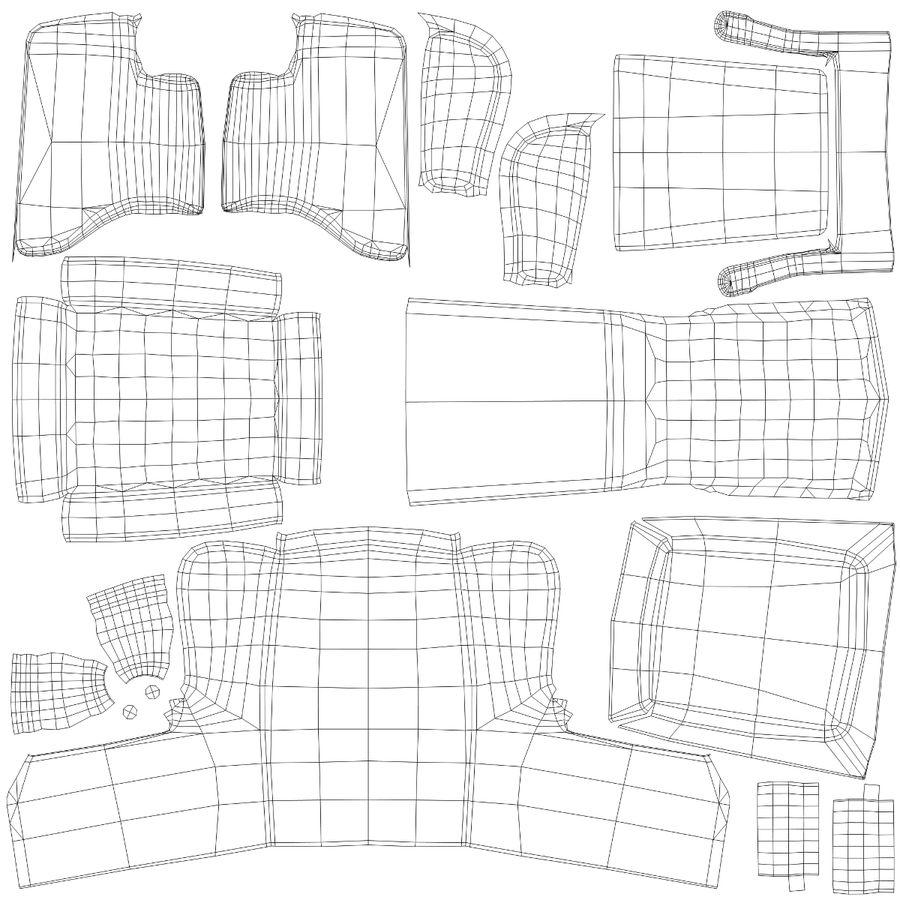 扶手椅棕色 royalty-free 3d model - Preview no. 27