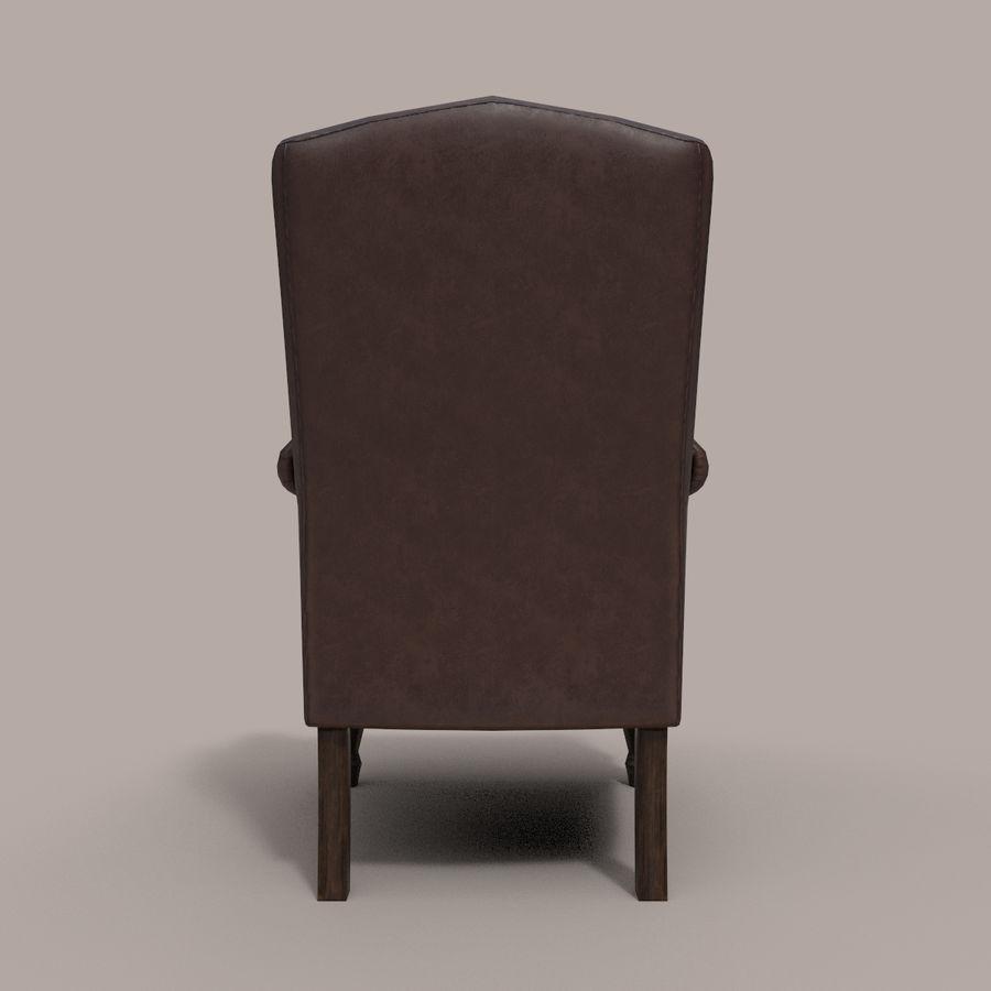 扶手椅棕色 royalty-free 3d model - Preview no. 5