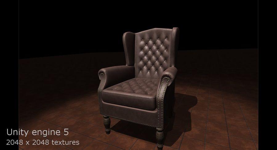 扶手椅棕色 royalty-free 3d model - Preview no. 12