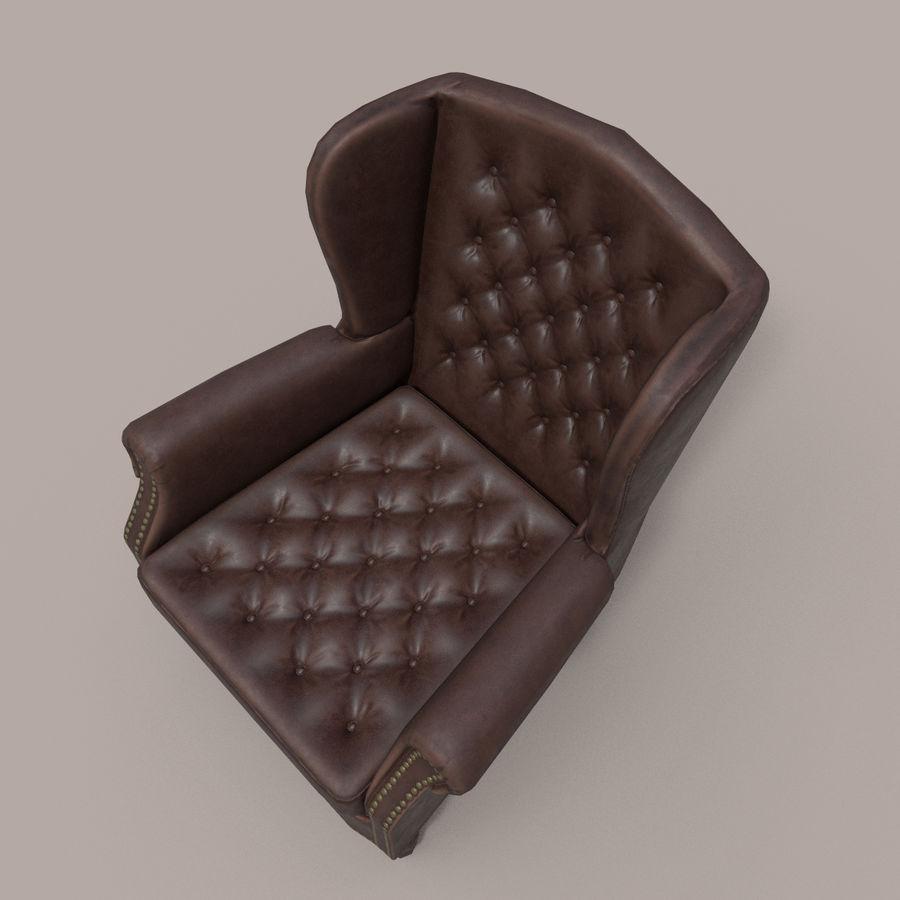 扶手椅棕色 royalty-free 3d model - Preview no. 8
