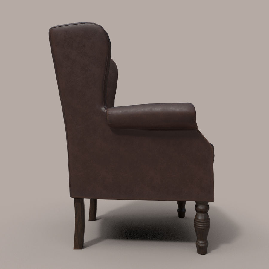 扶手椅棕色 royalty-free 3d model - Preview no. 6